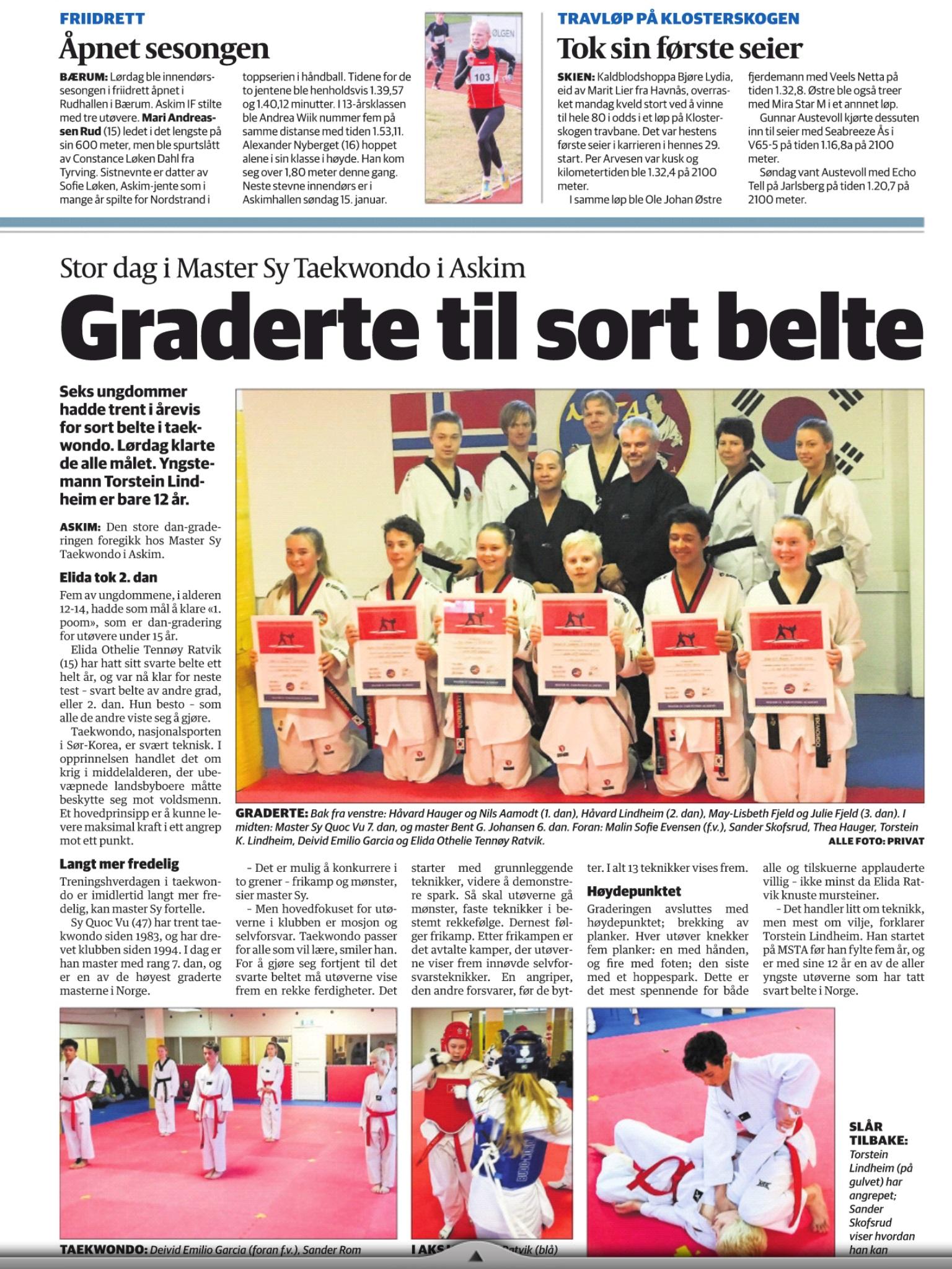 Taekwondo Svartbelte gradering